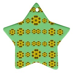 Sun Flowers For The Soul At Peace Ornament (star)