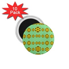 Sun Flowers For The Soul At Peace 1 75  Magnets (10 Pack)