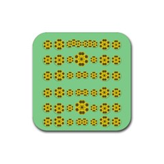 Sun Flowers For The Soul At Peace Rubber Coaster (square)
