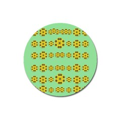 Sun Flowers For The Soul At Peace Magnet 3  (round)
