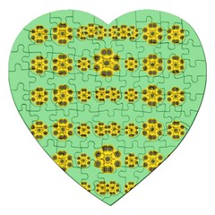 Sun Flowers For The Soul At Peace Jigsaw Puzzle (heart)