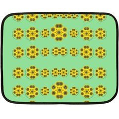 Sun Flowers For The Soul At Peace Fleece Blanket (mini)
