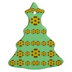 Sun Flowers For The Soul At Peace Ornament (christmas Tree)