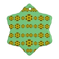 Sun Flowers For The Soul At Peace Snowflake Ornament (two Sides)