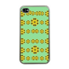 Sun Flowers For The Soul At Peace Apple Iphone 4 Case (clear)