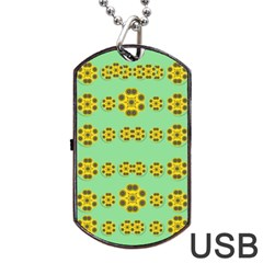 Sun Flowers For The Soul At Peace Dog Tag Usb Flash (one Side)