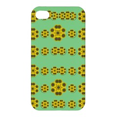 Sun Flowers For The Soul At Peace Apple Iphone 4/4s Premium Hardshell Case
