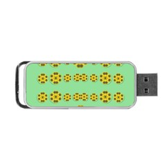 Sun Flowers For The Soul At Peace Portable Usb Flash (one Side)