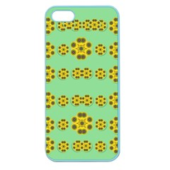 Sun Flowers For The Soul At Peace Apple Seamless Iphone 5 Case (color)