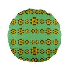 Sun Flowers For The Soul At Peace Standard 15  Premium Round Cushions