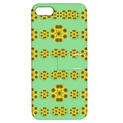Sun Flowers For The Soul At Peace Apple Iphone 5 Hardshell Case With Stand