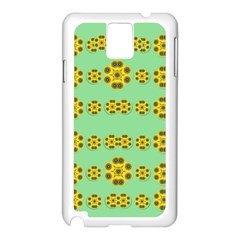 Sun Flowers For The Soul At Peace Samsung Galaxy Note 3 N9005 Case (white)