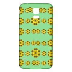 Sun Flowers For The Soul At Peace Samsung Galaxy S5 Back Case (white)