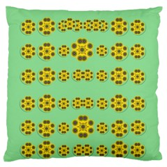 Sun Flowers For The Soul At Peace Large Flano Cushion Case (one Side)