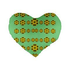 Sun Flowers For The Soul At Peace Standard 16  Premium Flano Heart Shape Cushions