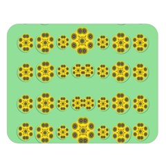 Sun Flowers For The Soul At Peace Double Sided Flano Blanket (large)