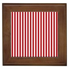 Red Stripes Framed Tiles