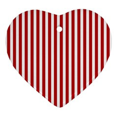 Red Stripes Ornament (heart)