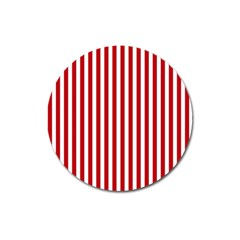 Red Stripes Magnet 3  (round)