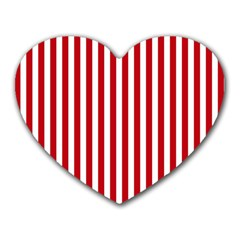 Red Stripes Heart Mousepads