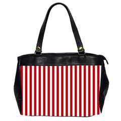 Red Stripes Office Handbags (2 Sides)