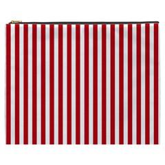 Red Stripes Cosmetic Bag (xxxl)