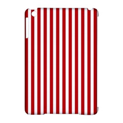 Red Stripes Apple Ipad Mini Hardshell Case (compatible With Smart Cover)
