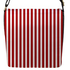 Red Stripes Flap Messenger Bag (s)