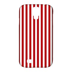 Red Stripes Samsung Galaxy S4 Classic Hardshell Case (pc+silicone)