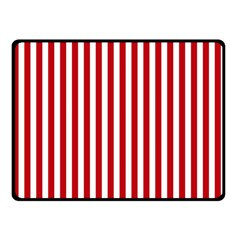 Red Stripes Double Sided Fleece Blanket (small)