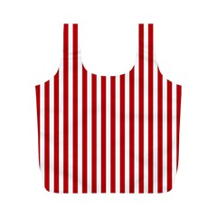 Red Stripes Full Print Recycle Bags (m)