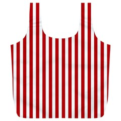 Red Stripes Full Print Recycle Bags (l)