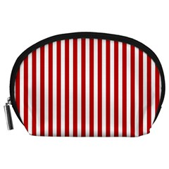 Red Stripes Accessory Pouches (large)