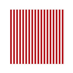 Red Stripes Small Satin Scarf (square)