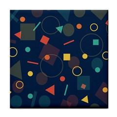 Blue Background Backdrop Geometric Tile Coasters