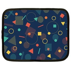 Blue Background Backdrop Geometric Netbook Case (xl)