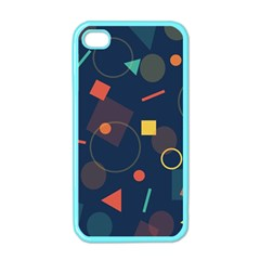 Blue Background Backdrop Geometric Apple Iphone 4 Case (color)