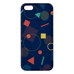 Blue Background Backdrop Geometric Apple Iphone 5 Premium Hardshell Case