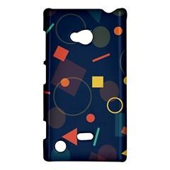 Blue Background Backdrop Geometric Nokia Lumia 720