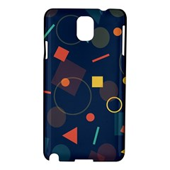 Blue Background Backdrop Geometric Samsung Galaxy Note 3 N9005 Hardshell Case