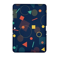 Blue Background Backdrop Geometric Samsung Galaxy Tab 2 (10 1 ) P5100 Hardshell Case