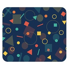 Blue Background Backdrop Geometric Double Sided Flano Blanket (small)