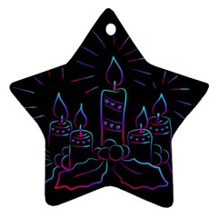 Advent Wreath Candles Advent Ornament (star)