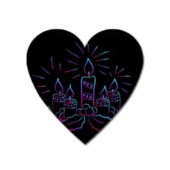 Advent Wreath Candles Advent Heart Magnet
