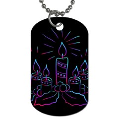 Advent Wreath Candles Advent Dog Tag (two Sides)
