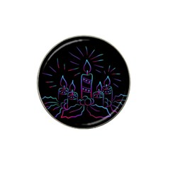 Advent Wreath Candles Advent Hat Clip Ball Marker (10 Pack)