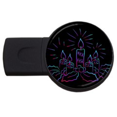 Advent Wreath Candles Advent Usb Flash Drive Round (4 Gb)