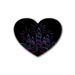 Advent Wreath Candles Advent Heart Coaster (4 Pack)
