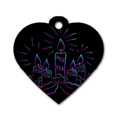 Advent Wreath Candles Advent Dog Tag Heart (one Side)