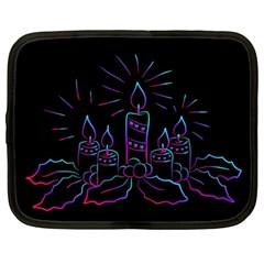 Advent Wreath Candles Advent Netbook Case (large)